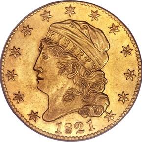 1821 $5 MS obverse