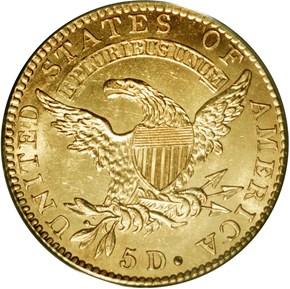 1823 BD-1 $5 MS reverse