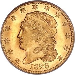 1828 $5 MS obverse