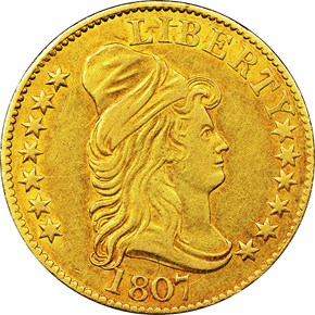 1807 BUST RIGHT $5 MS obverse