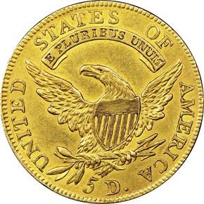 1808/7 $5 MS reverse