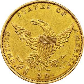 1834 CROSS 4 CLASSIC $5 MS reverse