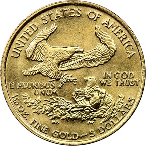 1988 EAGLE G$5 MS reverse