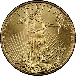 2009 EAGLE G$5 MS obverse