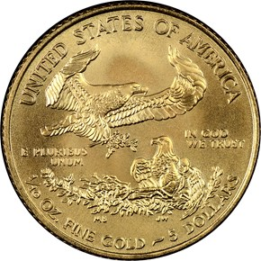 2009 EAGLE G$5 MS reverse
