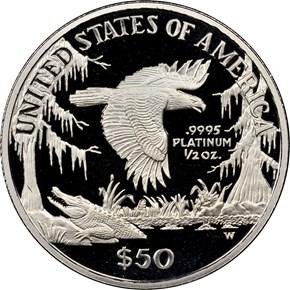 1999 W EAGLE P$50 PF reverse