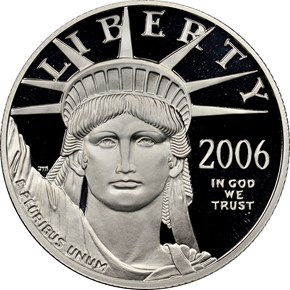 2006 W EAGLE P$50 PF obverse