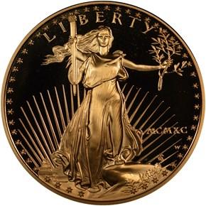 1990 W EAGLE G$50 PF obverse