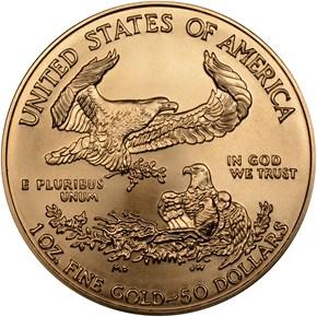 2006 W EAGLE BURNISHED GOLD EAGLE G$50 MS reverse