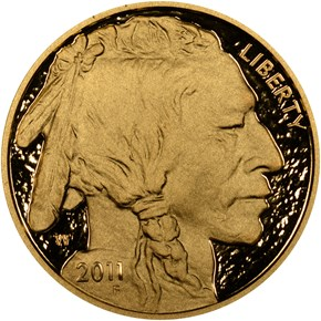 2011 W BUFFALO .9999 FINE G$50 PF obverse