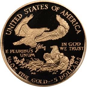 1990 P EAGLE G$5 PF reverse