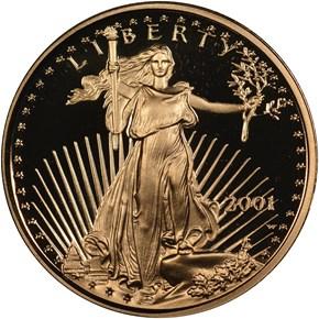 2001 W EAGLE G$5 PF obverse