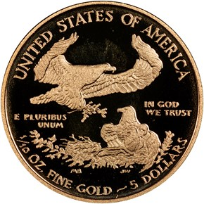 2012 W EAGLE G$5 PF reverse