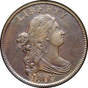 1803 1/2C MS obverse
