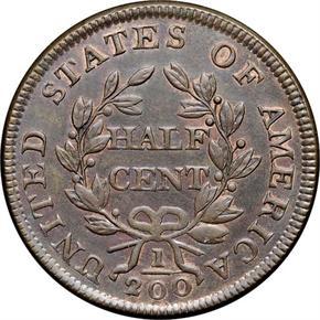 1803 1/2C MS reverse