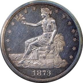 1873 T$1 PF obverse