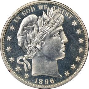 1896 50C PF obverse