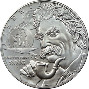 2016 P MARK TWAIN S$1 MS obverse