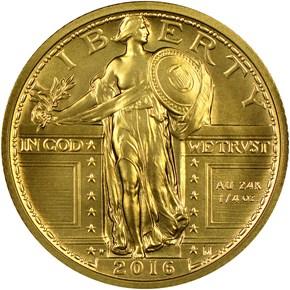 2016 W 24K GOLD 1/4oz 25C SP obverse