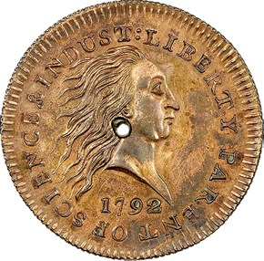 1792 J-2 NO SILVER CENTER 1C MS obverse