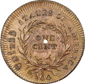 1792 J-2 NO SILVER CENTER 1C MS reverse
