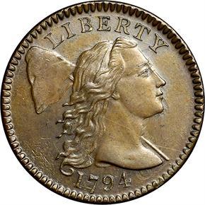 1794 HEAD OF 95 1C MS obverse