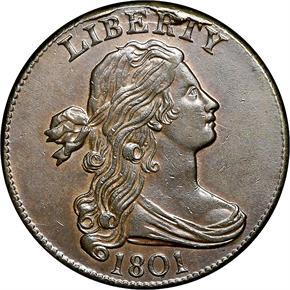 1801 1/000 1C MS obverse