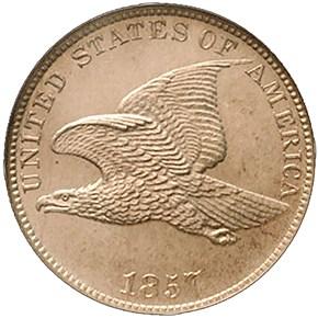 1857 EAGLE 1C PF obverse