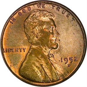 1952 D 1C MS obverse