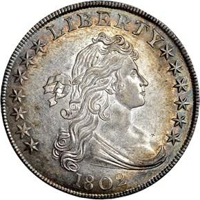 1802 $1 MS obverse