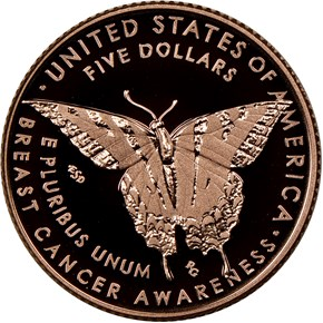 2018 W Breast Cancer Awareness $5 PF reverse