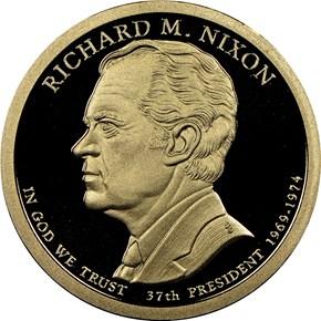 2016 S RICHARD M. NIXON $1 PF obverse