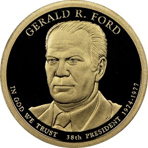 2016 S GERALD R. FORD $1 PF obverse