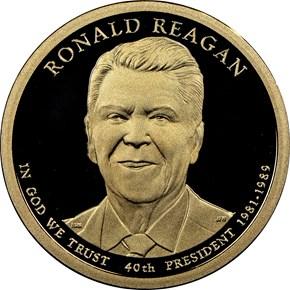 2016 S RONALD REAGAN $1 PF obverse