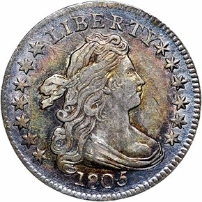 1805 4 BERRIES JR-2 10C MS obverse