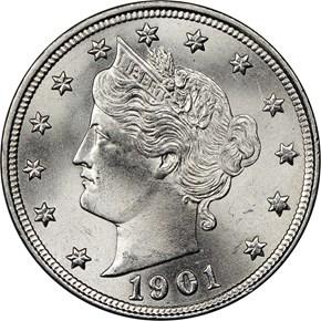 1901 5C MS obverse