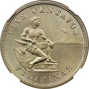1904 USA-PHIL 5C MS obverse