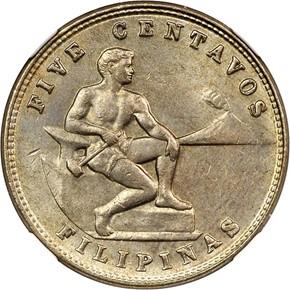 1935 M USA-PHIL 5C MS obverse