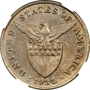 1935 M USA-PHIL 5C MS reverse