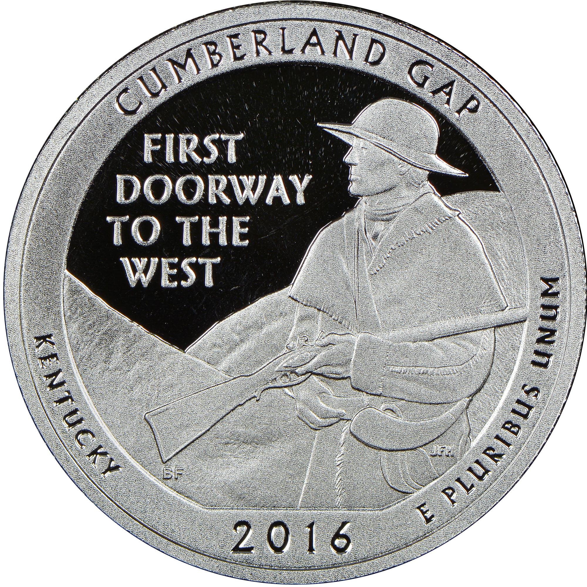 2016 S Silver Cumberland Gap 25c Pf America The Beautiful