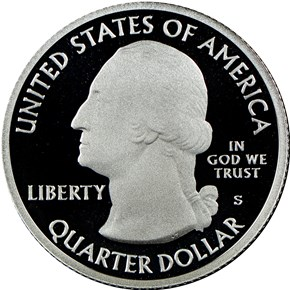 2016 S SILVER HARPERS FERRY 25C PF reverse
