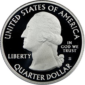 2016 S SILVER FORT MOULTRIE 25C PF reverse