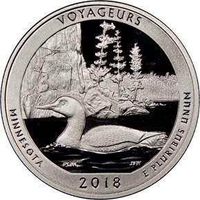 2018 S Silver Voyageurs 25C PF obverse