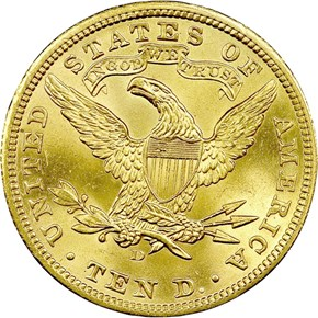 1906 D $10 MS reverse
