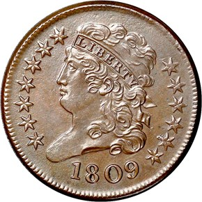 1809 1/2C MS obverse