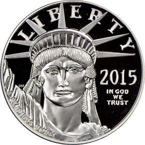 2015 W EAGLE P$100 PF obverse