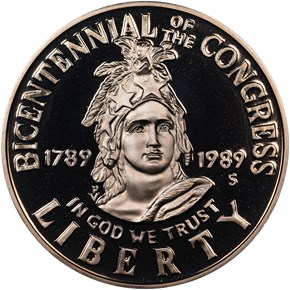 1989 S CONGRESS 50C PF obverse