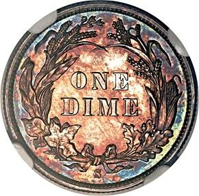 1894 S 10C PF reverse