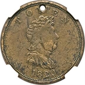 1820 COPPER NORTHWEST COMPANY TOKEN MS obverse