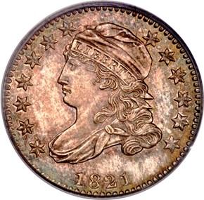 1821 10C PF obverse